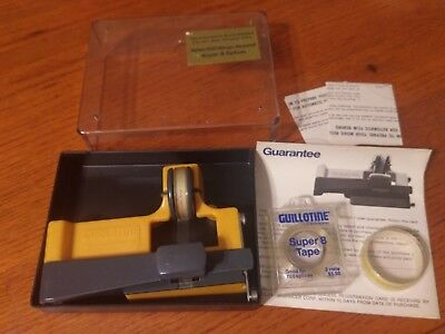 GUILLOTINE SUPER 8 SPLICER With Clear Box and Extra Splicing Tape instructions