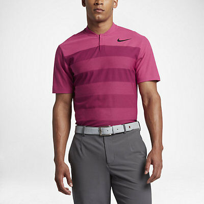 New Men's Tiger Woods Zonal Cooling Stripe Blade Polo 833171-616 Sz Med