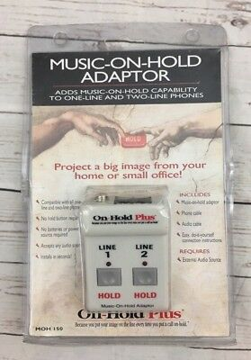 On-Hold Plus Music Adapter for Single Phone Discontinued - New in Package!