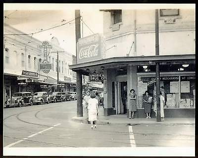 1939 Photo American Drug Co downtown Honolulu Hawaii with Coca- Cola REPRINT