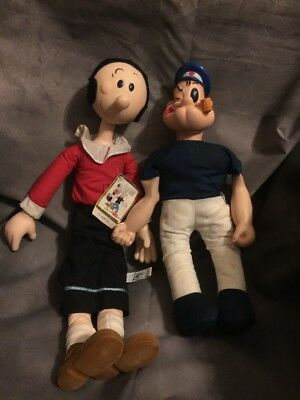 """Vintage Set of Popeye and Olive Oyl King Features Syndicate RARE Set 19"""""""