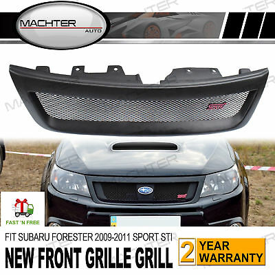 NEW Front Grille Grill FOR SUBARU FORESTER 09-11 Sport ABS Material STI Style