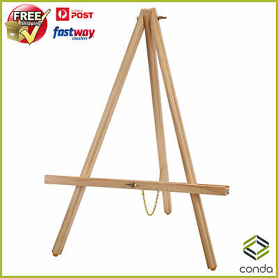 56CM Tall Tripod Easel Artist Display Tabletop Easel Beach Wood Easels OZ-Stock