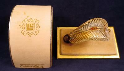 Vintage Lucien LeLong Jabot perfume bottle  clip on brooch Original Box