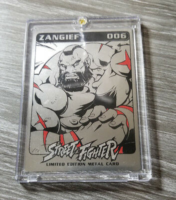 UDON SDCC 2016 Exclusive Street Fighter Zangief Metal Card. Signed