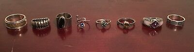 Collection/Lot of 8 Vintage/Modern 925 Sterling Silver Ring's 32 Grams