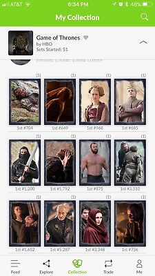 Quidd Game Of Thrones Aryas List First Edition Set