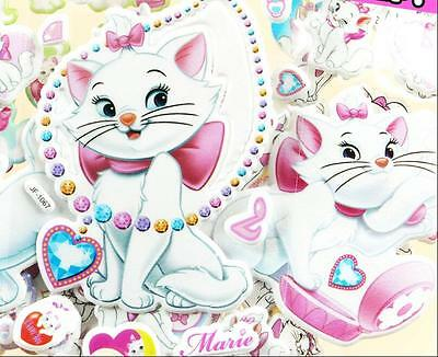Children favorites cartoon Marie Cat Stereoscopic PVC Puffy Sticker Lot Of 4 toy