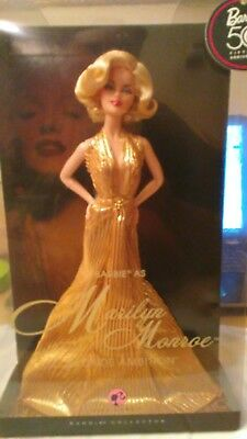 Barbie As Marilyn Monroe Blonde Ambition Pink Label 50Th Anniversary Doll Nrfb