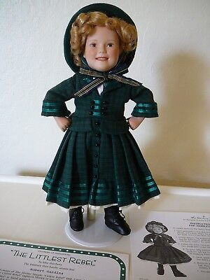 """The Danbury Mint Shirley Temple """"Littlest Rebel"""" Doll & Stand With Certificate"""