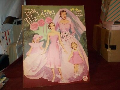 New Uncut Vintage 1952 The Pink Wedding Paper Dolls By Merrill