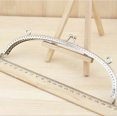 20 CM Metal Frame Kiss Clasp Silver For Purse Handle Bag C7