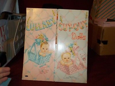 Vintage 1953 Lullaby Cut-Ouy Dolls By Whitman- Most Not Cut