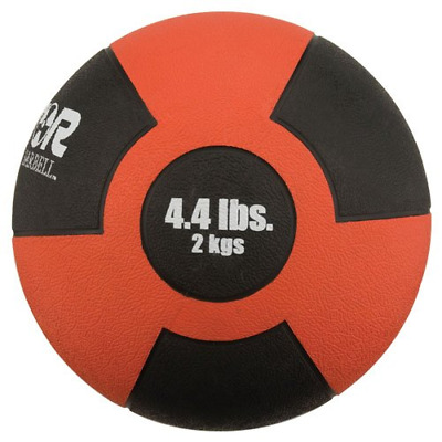 Champion 1266290 Barbell 2kg Reactor Rubber Medicine Ball (Red)