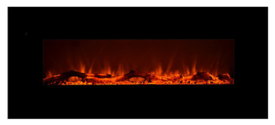 """Touchstone 80001 Onyx Wall Mounted Electric Fireplace, 50"""" Wide, Logset & Crysta"""
