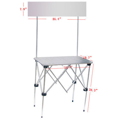 Portable Trade Show Table Display Booth Promotion Counter Banner Stand Office