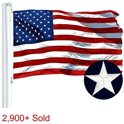 4'x6' ft, American Flag US USA | EMBROIDERED Stars, Sewn Stripes, Brass Grommets