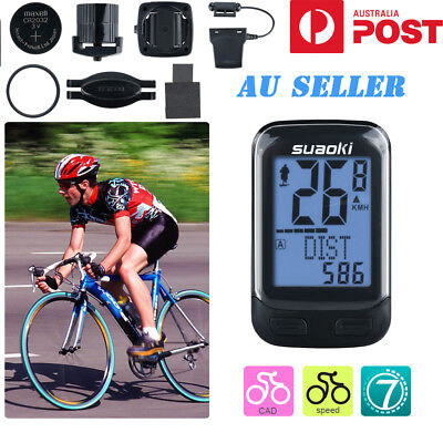 Wireless Cycling Bike Bicycle Computer Cadence Sensor Odometer Speedometer Track