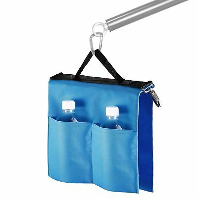 Blue Nylon Studio Softbox Water Bag w/ 4 Outer Pouches for Panel Boom Arm Bar