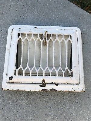 Heat Air Grate register old rustic raised front arches vintage Wall Vent