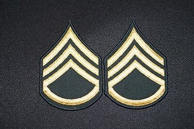 US Army Staff Sergeant Rank E-6 Dress Military Patch Rank Sew on Authentic USED