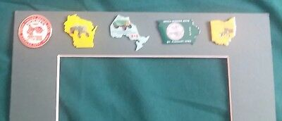 New 9  Hart - Part Oliver Collector's Assn. Summer Show Pins Many State Shaped