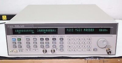 Agilent HP 83752A Synthesized Sweeper 10 Mhz 20 GHz Calibrated NIST Certificate