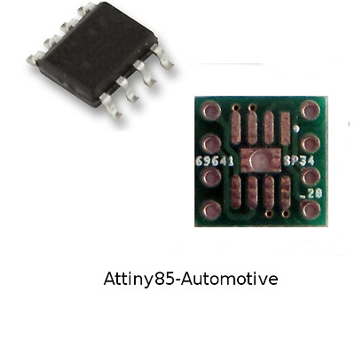 5pcs A ATtiny85-Automotive ATMEL AVR Microcontroller with 8pin adapters
