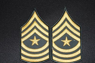 US Army Sergeant Major Rank E-9 Dress Military Patch Rank Sew on Authentic USED