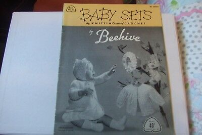 Vintage Patons Baby Sets in Knitting and Crochet by Beehive Book No. 65