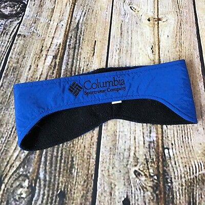 VTG Columbia Sports Wear Blue Black Fleece Ear Warmer Headband Unisex Large/XL
