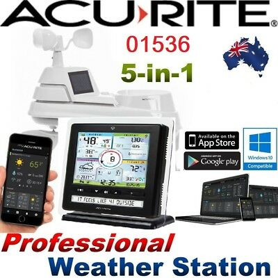 AcuRite Pro Weather Station 5-in-1 WeatherSensor Monitoring App 01536 PC Connect