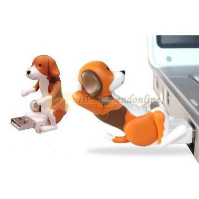 Funny Cute Pet USB Humping Spot Dog Toy Kids Christmas Birthday Party Gift Gray