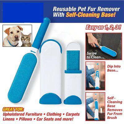 New Hurricane Fur Wizard Pet Fur Lint Remover Travel Size hair Cleaner BrusherN