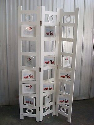 White Room Divider Privacy Screen Photo Display, Three Panels, Can Deliver