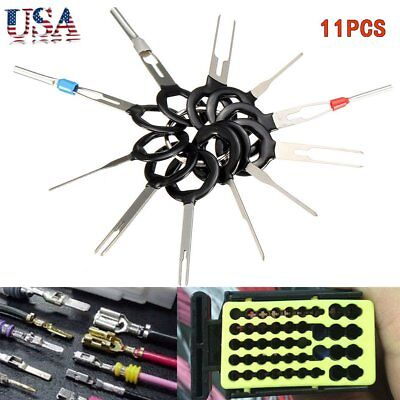 11pcs Car Terminal Removal Tool Kit Wiring Connector Pin Release Extractor~