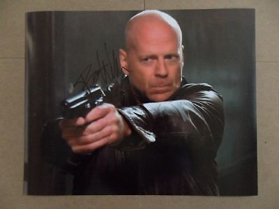 """Bruce Willis Signed -Autographed Photo """"Expendables"""""""