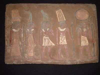 Rare Antique Ancient Egyptian Stela pharaoh Isis Gods Horus Amun 1279–1213 BC