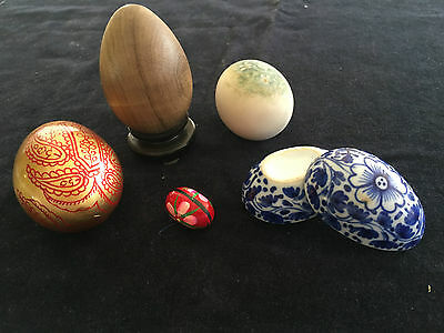 ceramic and decorative egg collection lot of 5