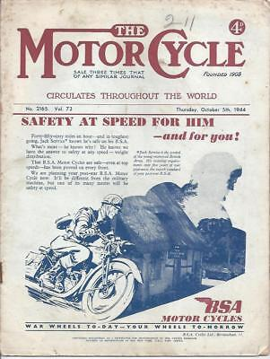 The Motor Cycle Magazine 5th October 1944 World War 2 Motorcycles BSA Triumph