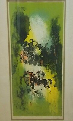 "Lebadang, Vietnam (1922-2015) Color Lithograph ""Wild Horses"" Signed and Numbered"