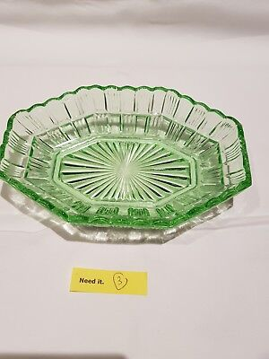 depression glass green