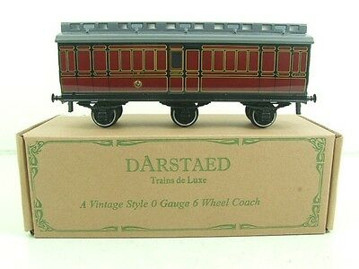 Darstaed O Gauge LMS 2 Six Wheel Clerestory Roof Full Brake Coach R/N 2501 Boxed
