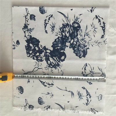 32x150cm Cotton Linen Fabric DIY Craft Material Chinese Painting Flower F56 S