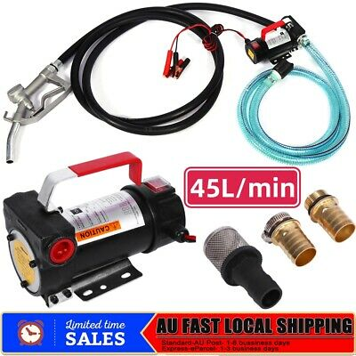 12V DC Electric Bowser Transfer Pump Station Diesel Oil Fuel Portable AU Stock