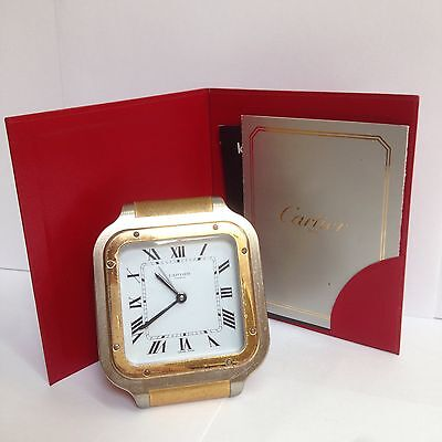 Cartier Tank Francaise Desk Alarm Clock With Instruction Booklet Must See