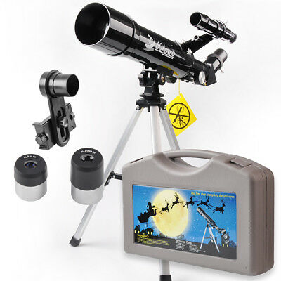 60mm Refractor Telescope Monocular Scope for Beginners and Kids W/ Tripod New