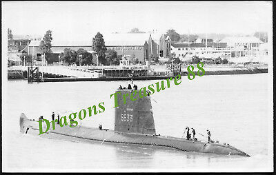 DAUPHIN (S633), Photo, French Navy Narval-class Patrol Submarine,1958 - 1992
