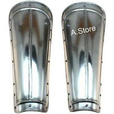 Steel Armor medieval Greaves Leg Guards One Size Fit Most
