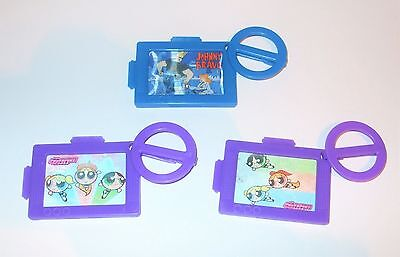 Cartoon Network Dairylea Lunchables Powerpuff Girls Johnny Bravo 3D Tags / Clips